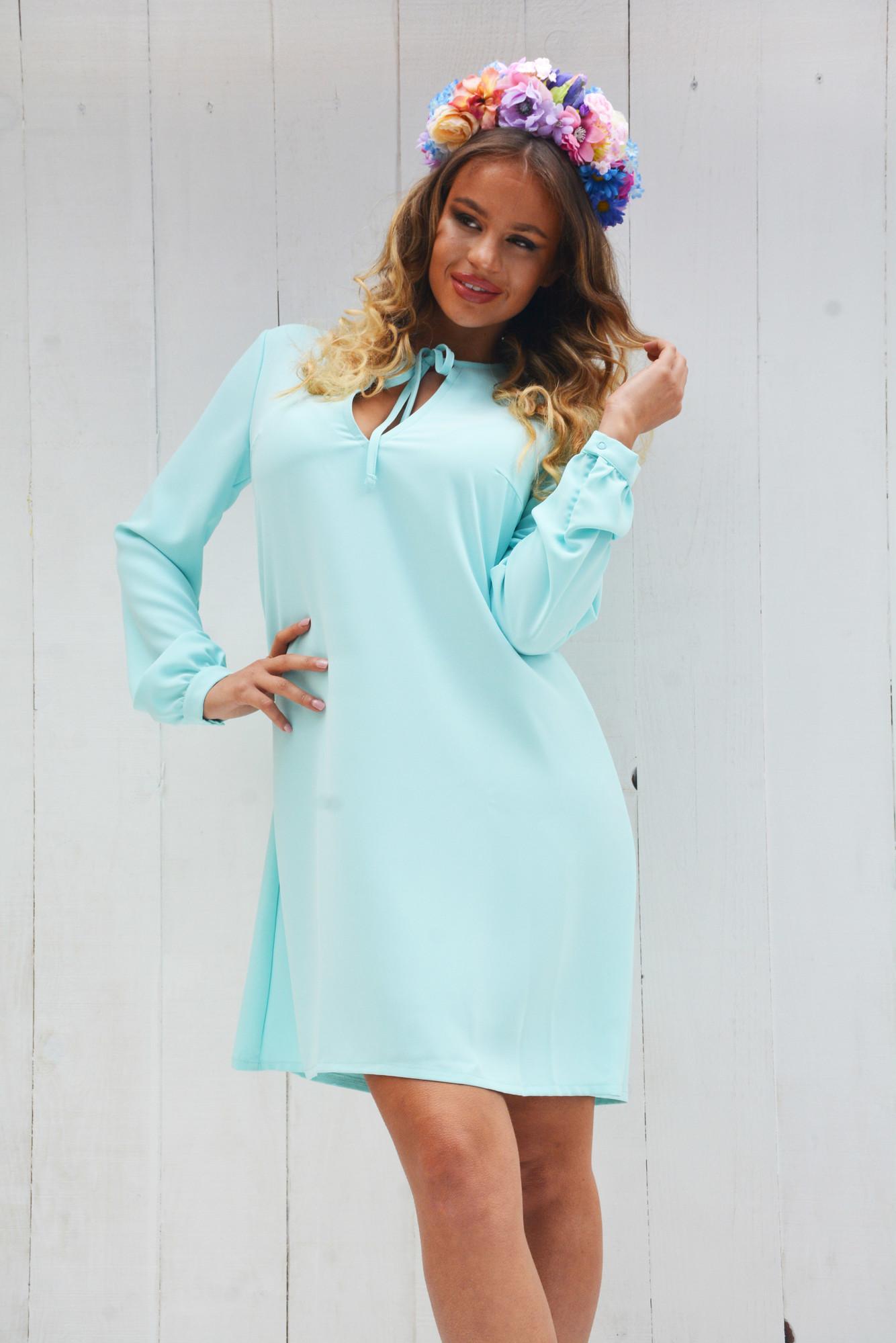 f67abf4f0d27 Dámske modré šaty voľného strihu LUXURY - M - BOUTIQUE.SK